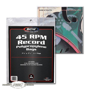 45 RPM Record 2-Mil Polypropylene Bags