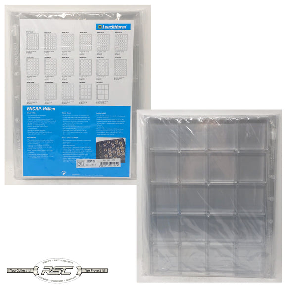 ENCAP Quadrum Clear Pages for Square Coin Capsules