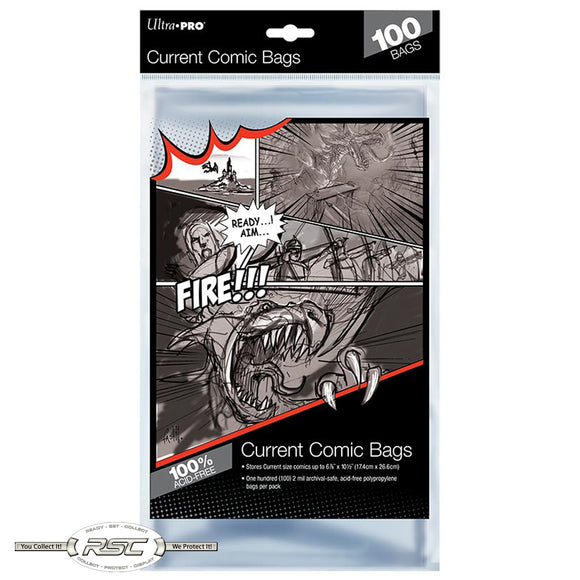 Current 2-Mil Polypropylene Comic Bags