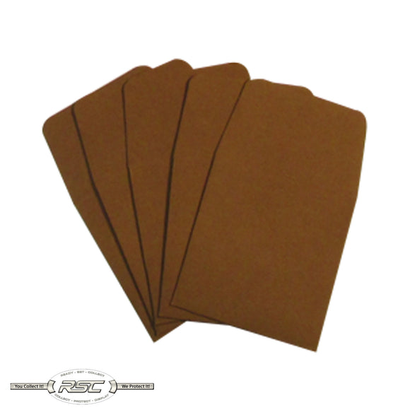 Brown Archival Paper Coin Envelopes - Pack of 50