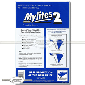 Mylites 2 Silver & Golden Age 2-Mil Mylar Bags
