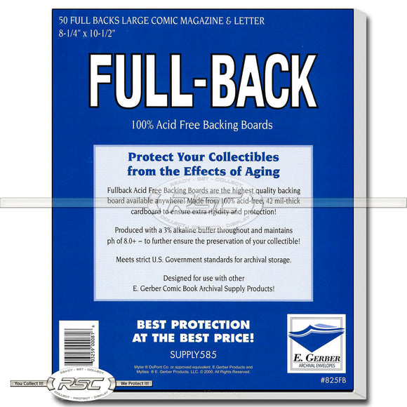 Full-Back Large Comics, Magazines & Letters 42pt Backing Boards