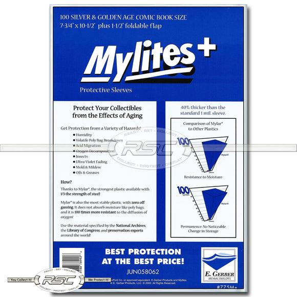 Mylites+ Silver & Golden Age 1.4-Mil Mylar Bags