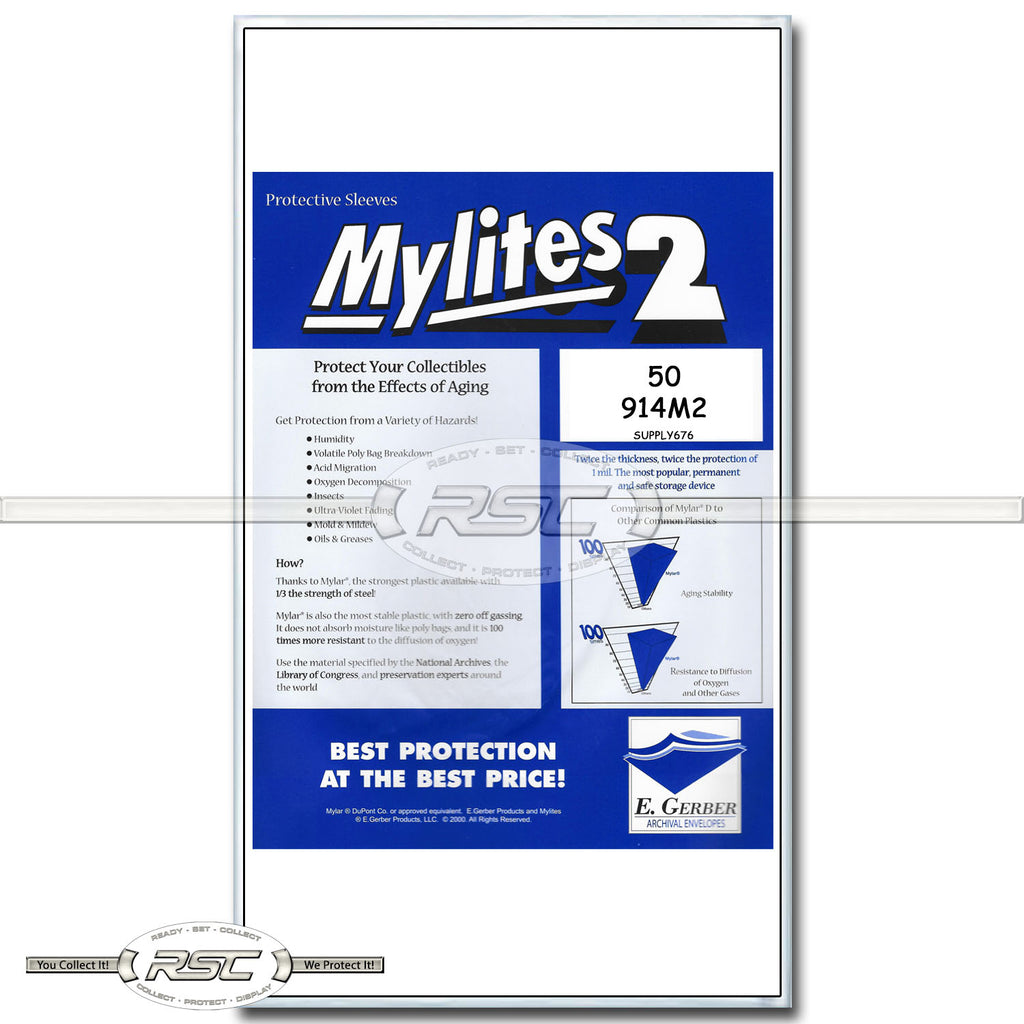 Mylites 2 Legal (for Graded Comics) 2-Mil Mylar Bags