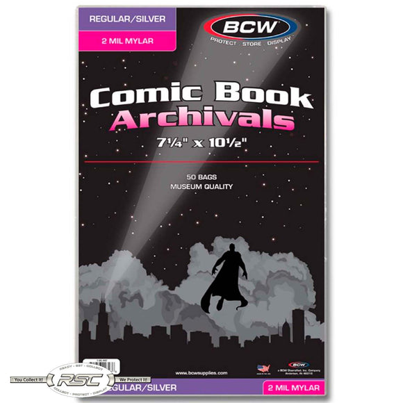 Archivals Regular / Silver 2-Mil Mylar Comic Bags