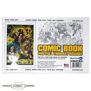 Comic Book Pro Art Boards w/Full Trim Border - Pack of 24