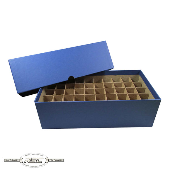 Coin Tube & Roll Storage Box for Nickels (Blue)
