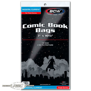 Modern / Current Thick 2-Mil Polypropylene Comic Bags