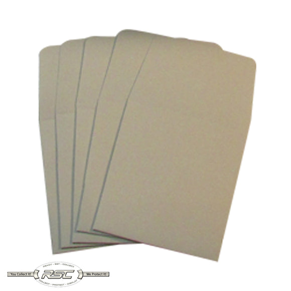 Grey Archival Paper Coin Envelopes - Pack of 50