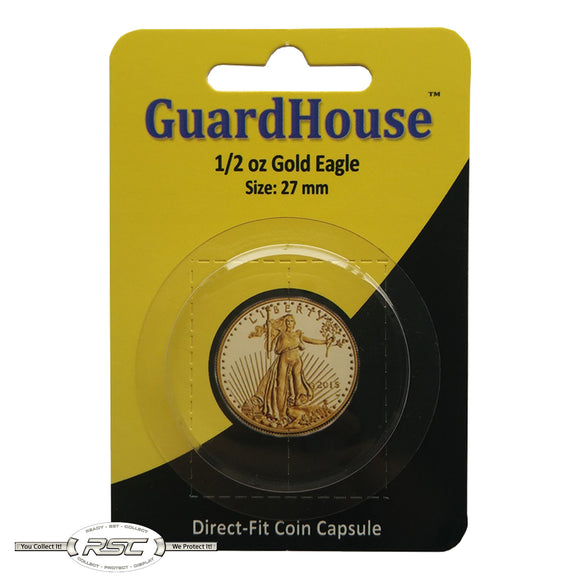 Direct-Fit Coin Capsule for 1/2-Oz American Gold Eagle