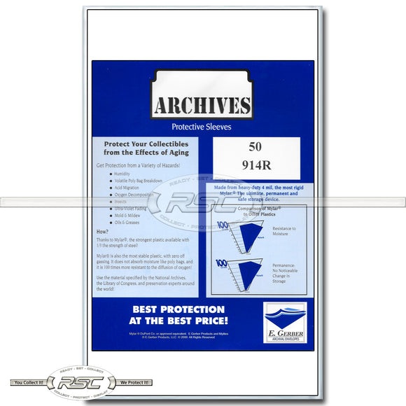 Archives Legal (for Graded Comics) 4-Mil Mylar Sleeves
