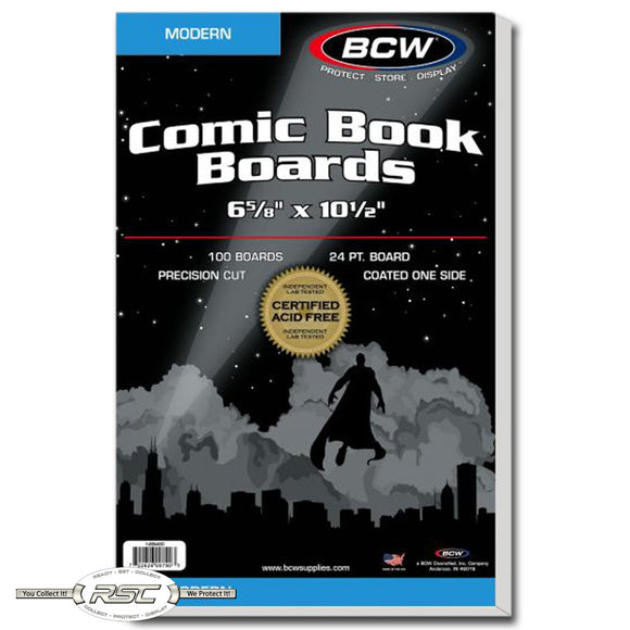 Modern Size Comic Book Backing Boards