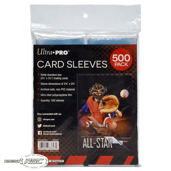 Trading & Gaming Card Sleeves - Pack of 500