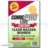 Silver / Regular 60pt Clear Backer Boards