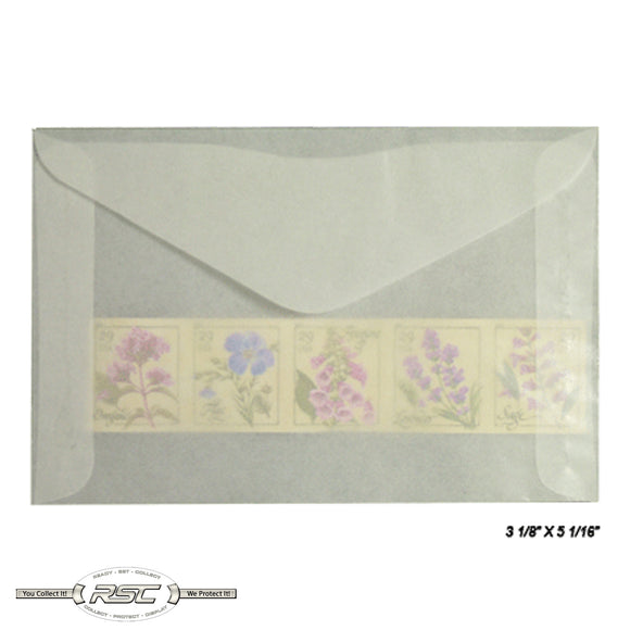 #4.5 Glassine Envelopes - Pack of 100
