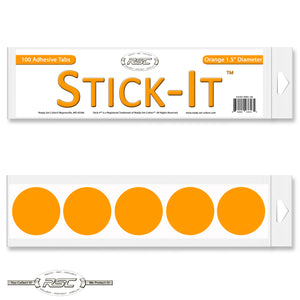 Stick-It™ Orange Resealable Adhesive Tabs - Pack of 100