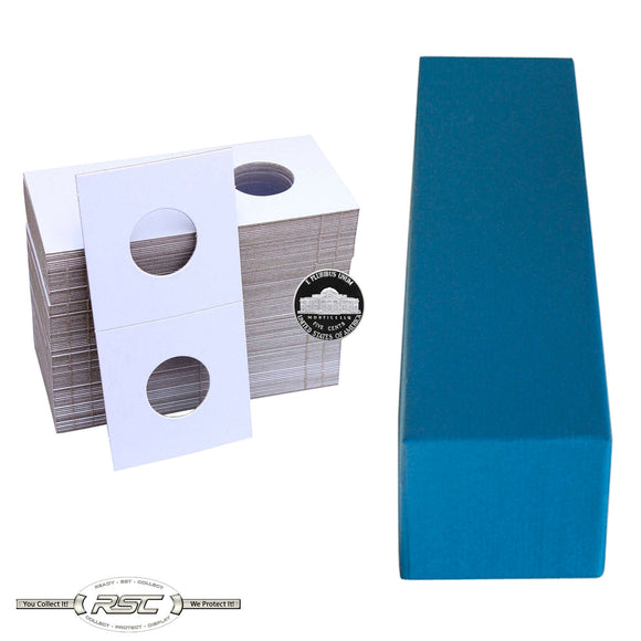 2x2 Paper Flips and Blue Storage Box for Nickels