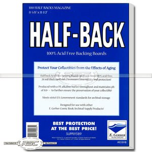 Half-Back Magazine 24pt Backing Boards