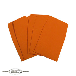 Orange Archival Paper Coin Envelopes - Pack of 50