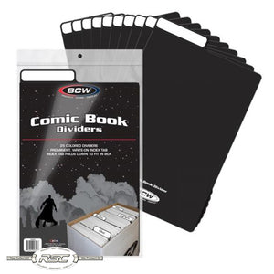 Black Plastic Comic Book Dividers