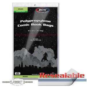 2-Mil Resealable Bags for Graded Comics (CGC/CBCS)