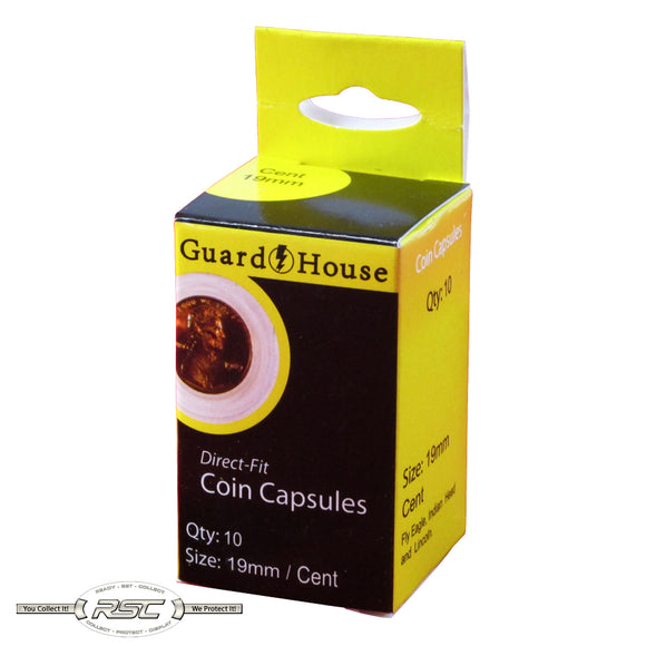 Direct Fit Coin Capsules for Cents - Pack of 10