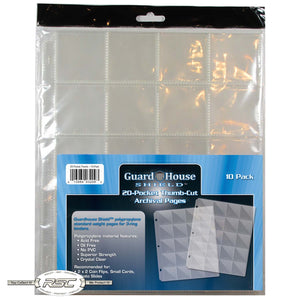 20-Pocket Thumb-Cut Archival Pages for 2x2 Coin Flips & Photo Slides - Pack of 10