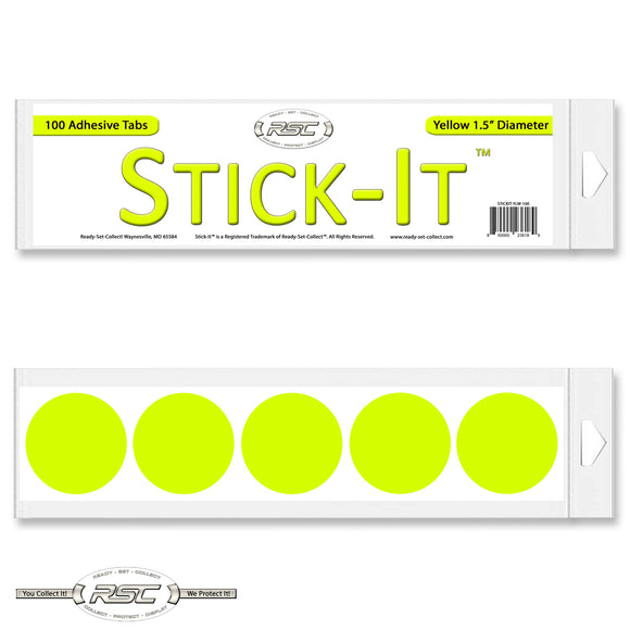 Stick-It™ Yellow Resealable Adhesive Tabs - Pack of 100