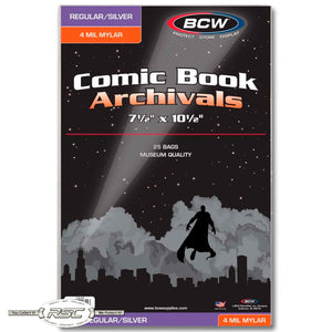 Archivals Regular / Silver 4-Mil Mylar Comic Bags