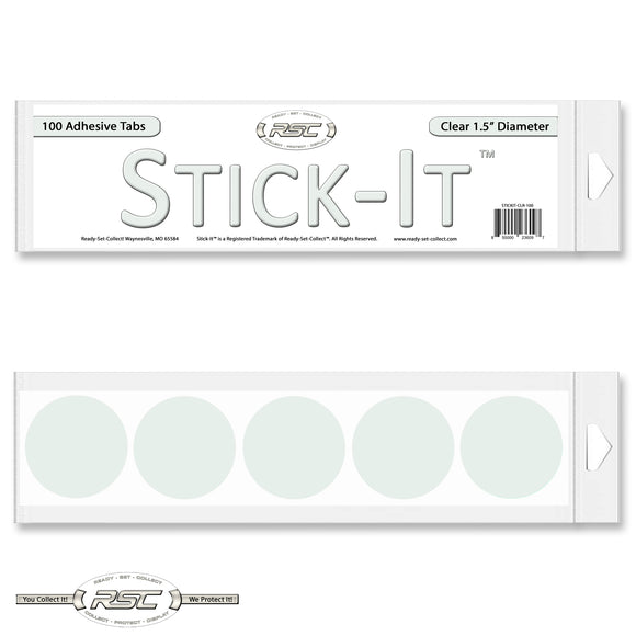 Stick-It™ Clear Resealable Adhesive Tabs - Pack of 100