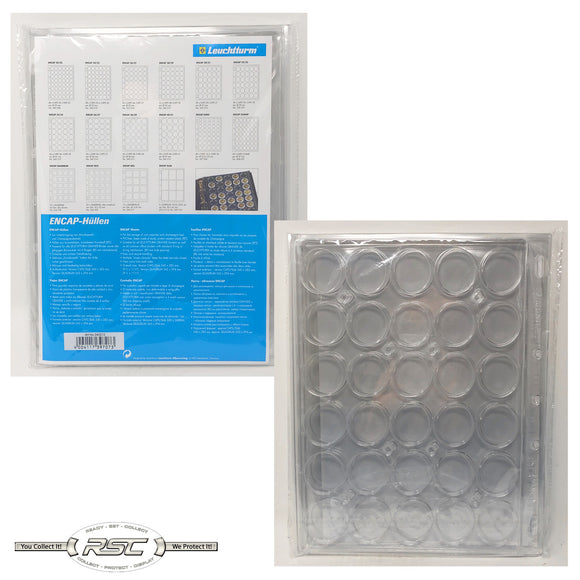 ENCAP Clear Pages for 30/31mm Coins in Capsules