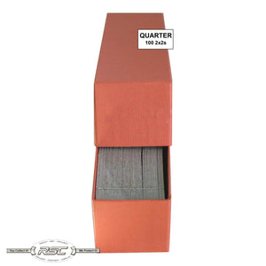 2x2 Paper Flips and Orange Storage Box for Quarters