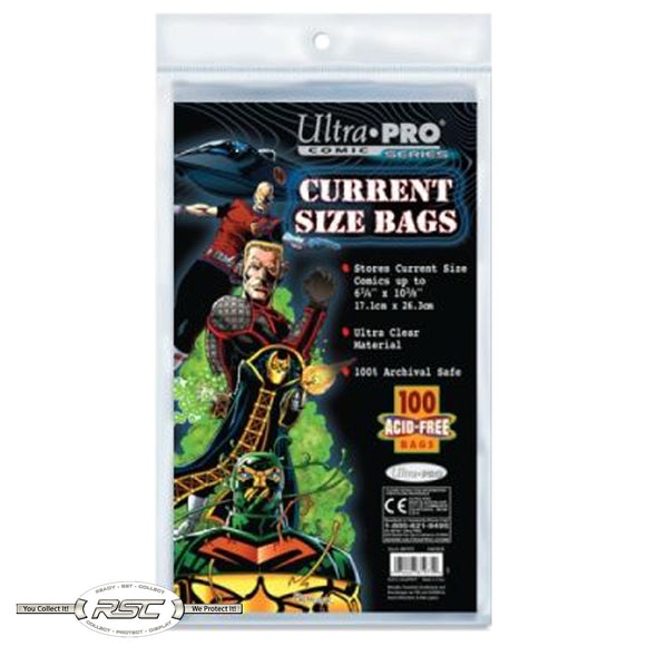 Current 2-Mil Polypropylene Comic Bags - Old Package!