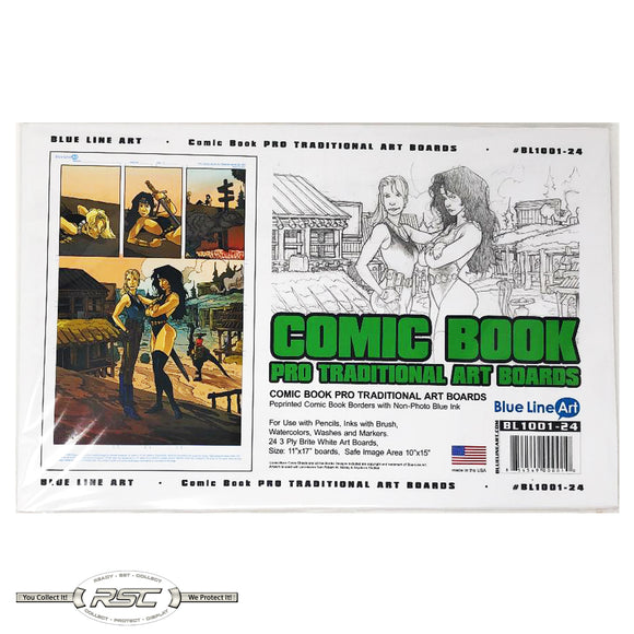 Comic Book Smooth Art Boards (Pro Traditional) - Pack of 24