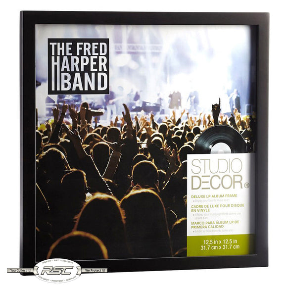Deluxe LP Vinyl Album Wooden Display Frame