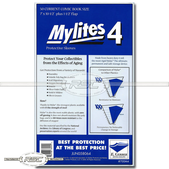 Mylites 4 Current 4-Mil Mylar Bags