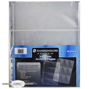 3-Pocket Archival Pages for Large Currency - Pack of 10