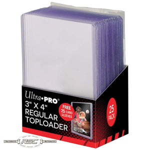 "3"" x 4"" Regular Clear Rigid Toploader & Soft Sleeves - Pack of 25"