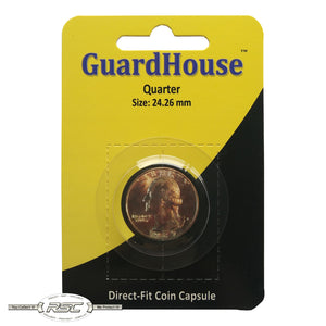Direct-Fit Coin Capsule for U.S. Quarter