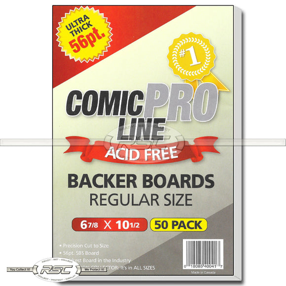 Regular 56pt Backer Boards