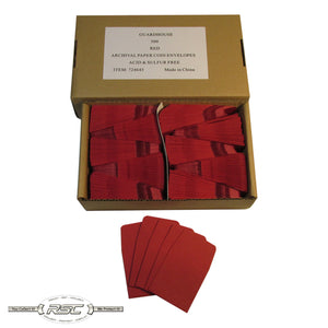 Dark Red Archival Paper Coin Envelopes - Case of 500