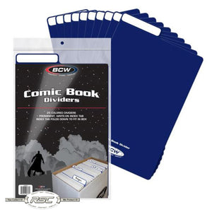 Blue Plastic Comic Book Dividers