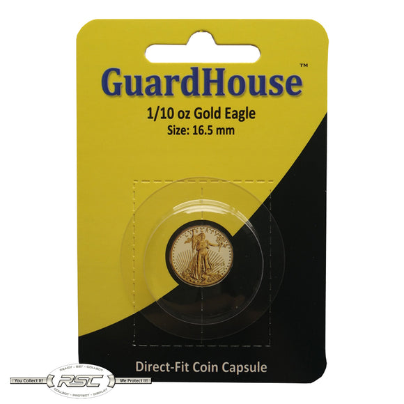 Direct-Fit Coin Capsule for 1/10-Oz American Gold Eagle