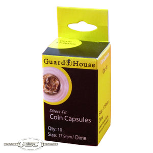 Direct Fit Coin Capsules for Dimes - Pack of 10