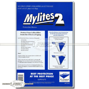 Mylites 2 Large Comics, Magazine & Letters 2-Mil Mylar Bags