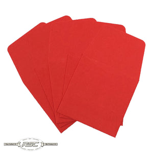 Light Red Archival Paper Coin Envelopes - Pack of 50