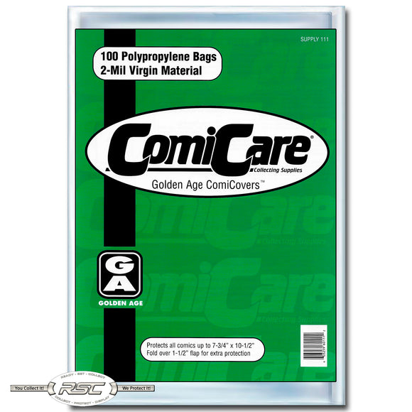 Golden Age 2-Mil Polypropylene Comic Bags