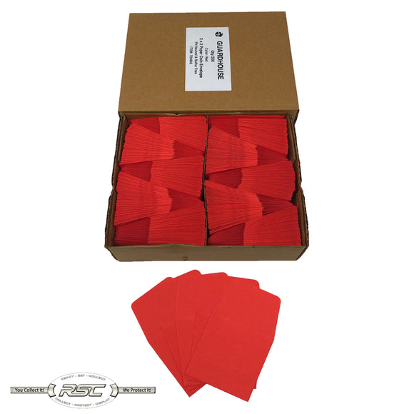 Light Red Archival Paper Coin Envelopes - Case of 500