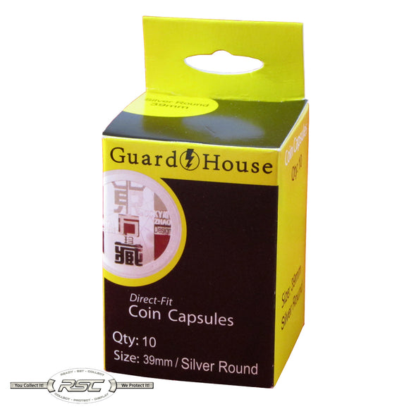 Direct Fit Capsules for Silver Rounds - Pack of 10