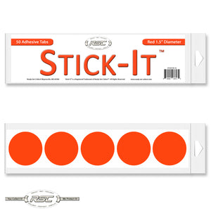 Stick-It™ Red Resealable Adhesive Tabs - Pack of 50